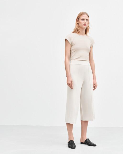 Cropped Milano Pants Chiffon