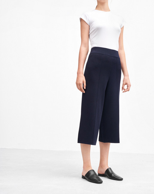 Cropped Milano Pants Navy
