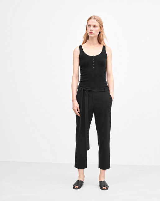 Lan Cropped Pants Black