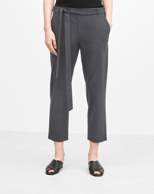 Lan Cropped Pants Concrete