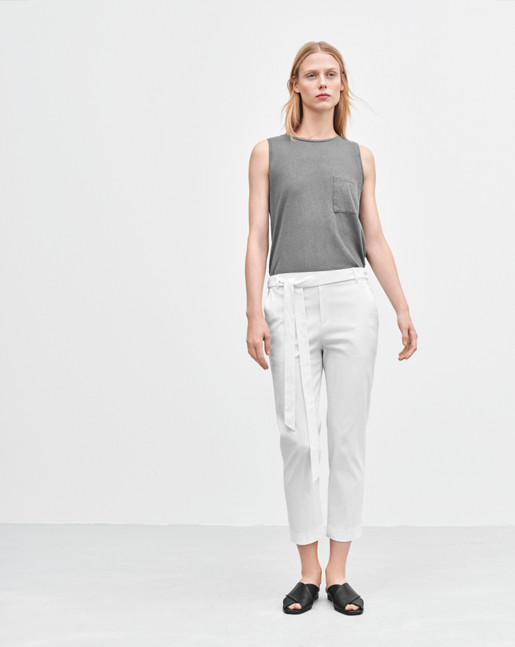 Lan Cropped Pants White