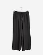 Adie Wide Cropped Pants Black