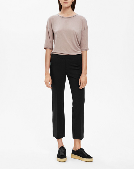 Poe Cropped Jersey Pant Black