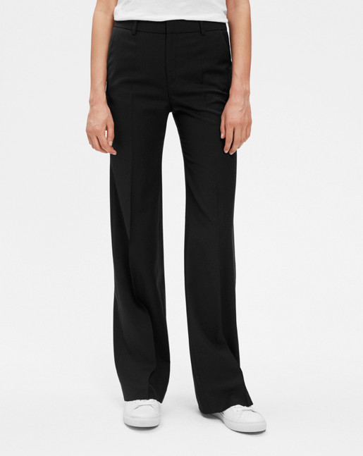 Jamie Bootcut Cool Wool Pants Black