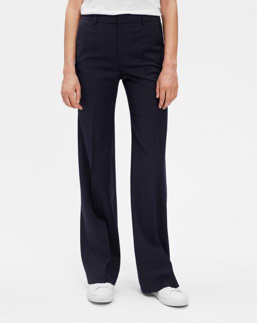 Jamie Bootcut Cool Wool Pants Dk Navy