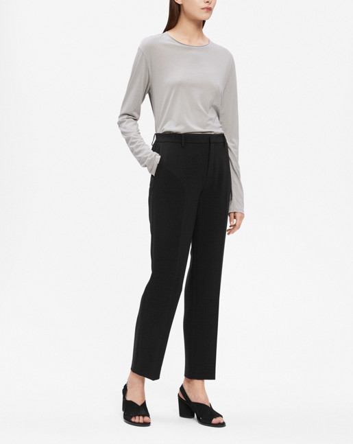 Louie Cropped Pant Black