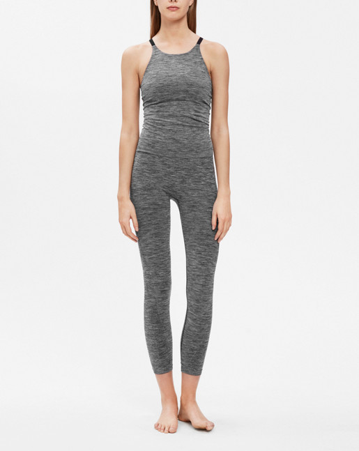 Crop Seamless leggings Grey Mel.