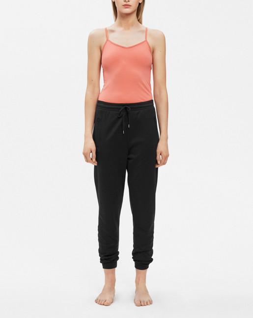 Shiny Track Pants Black