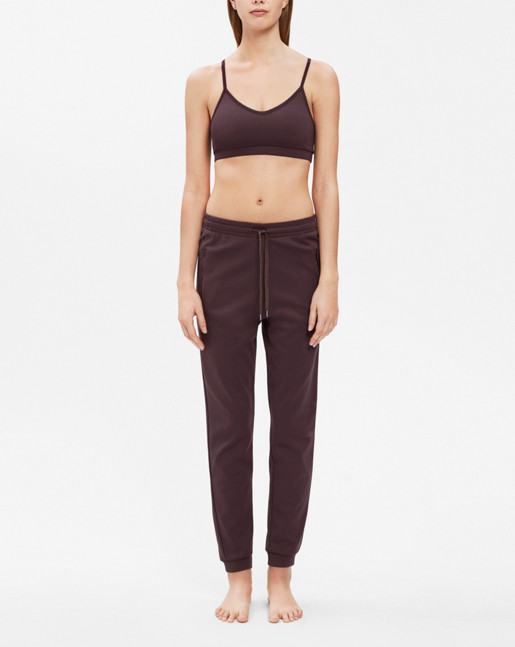 Shiny Track Pants Raisin