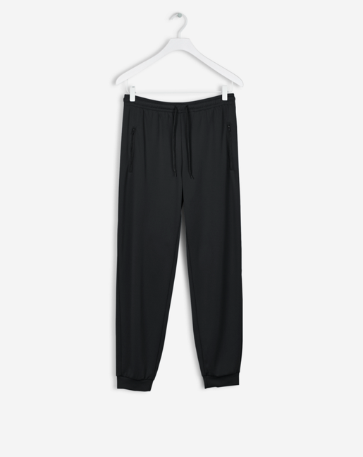 Shiny Track Pants Black