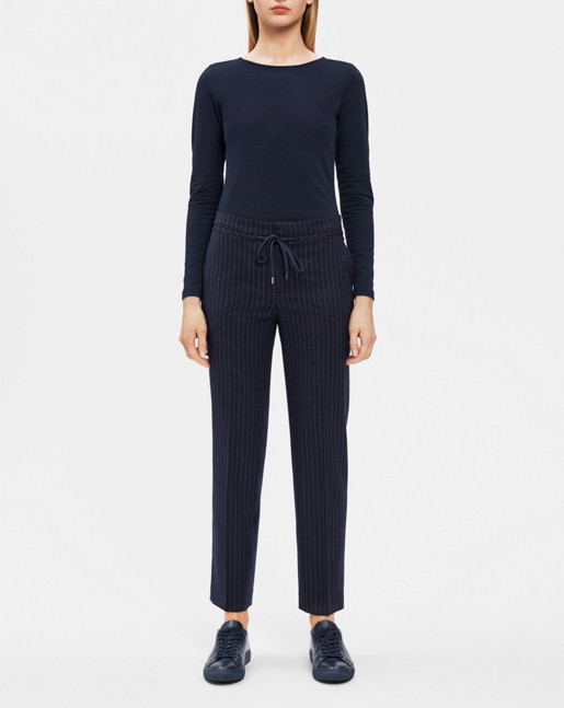 Gabe Cropped Pant Navy/Chalk
