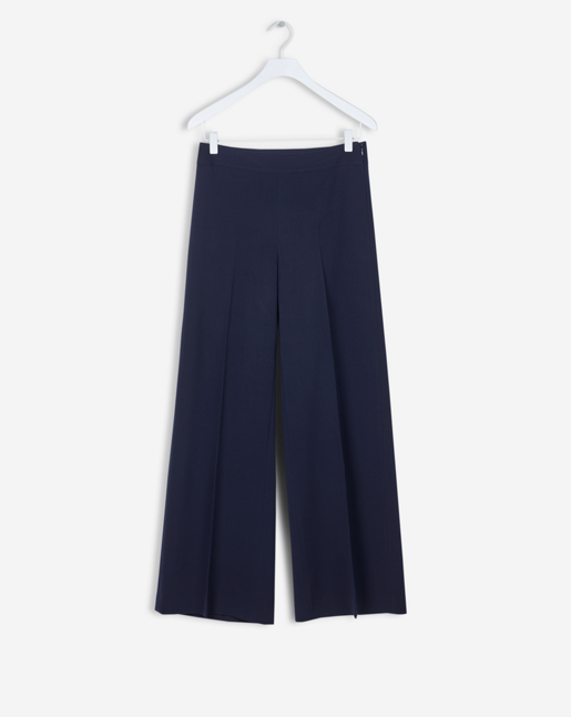 Rhea Wide Pants Wool twill Navy