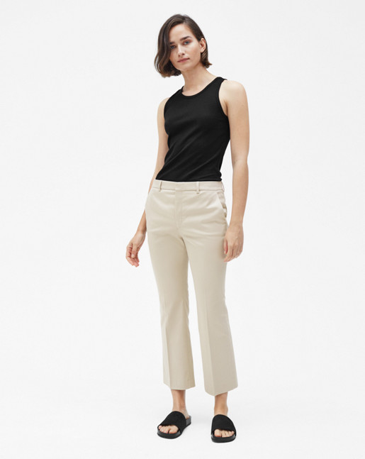 Hudson Cotton Cropped Trousers Hemp