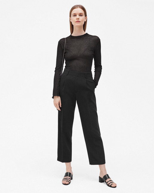Simone Cropped Trousers Black