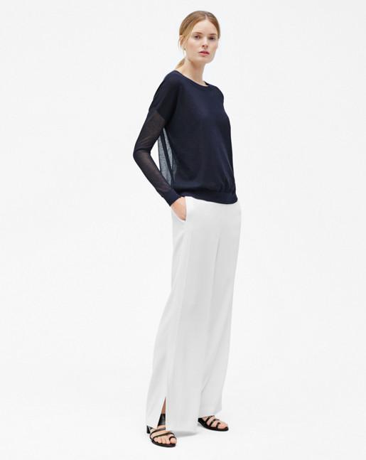 Clare Wide Leg Trousers Cream