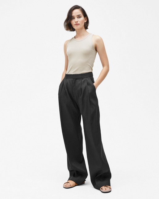 Katie Pleated Trousers Black