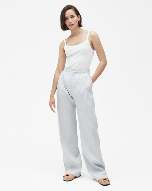 Katie Pleated Trousers Mineral
