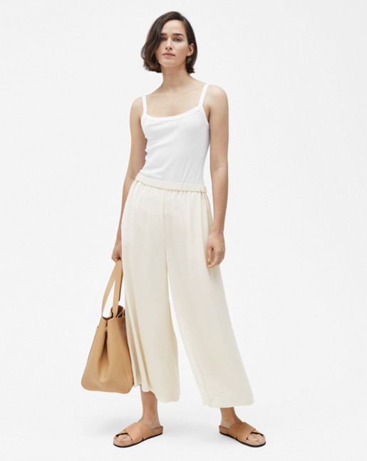 Tara pull-on Culottes Bone