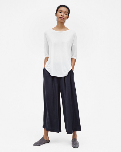 Tara pull-on Culottes Navy