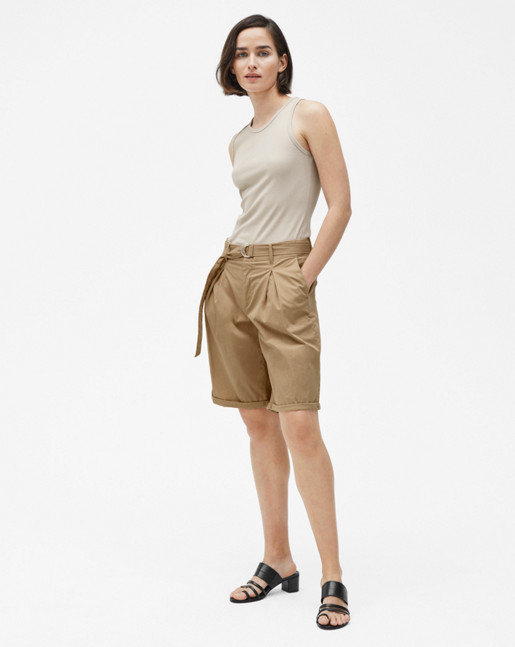 Madison Belted Shorts Bamboo