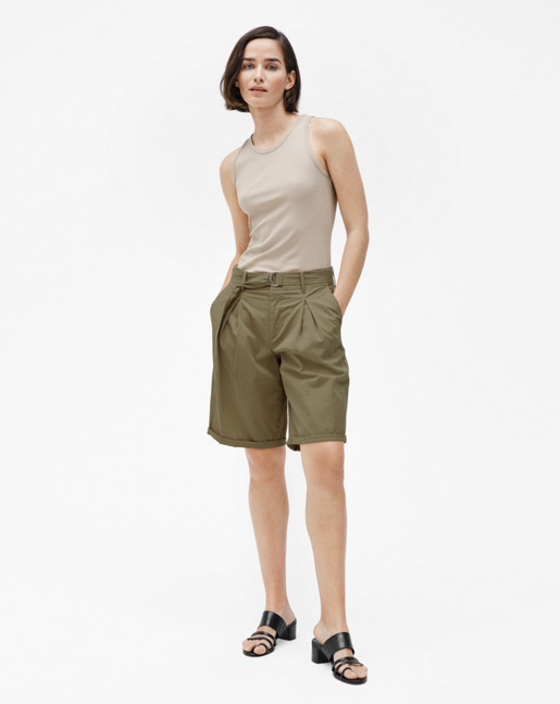 Madison Belted Shorts Thyme