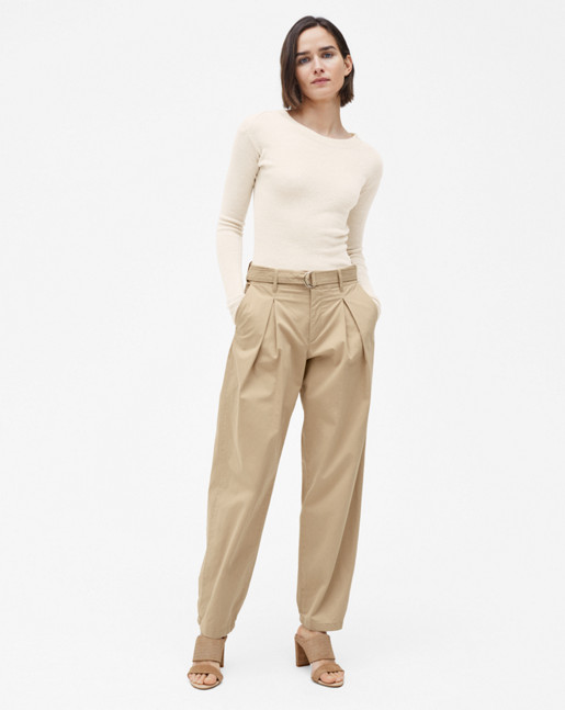 Madison Belted Trousers Bamboo