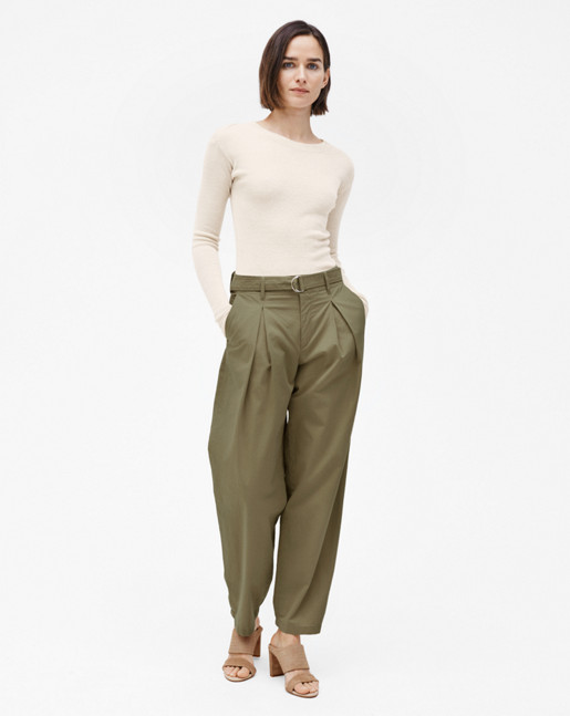 Madison Belted Trousers Thyme
