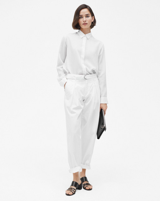 Madison Belted Trousers White