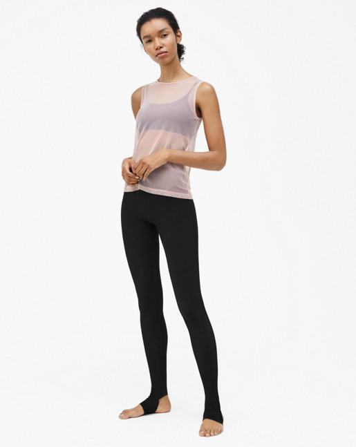 Open Heel Leggings Black