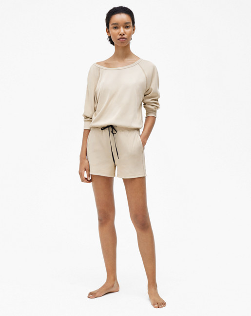 Ribbed Cool-down Shorts Plaster
