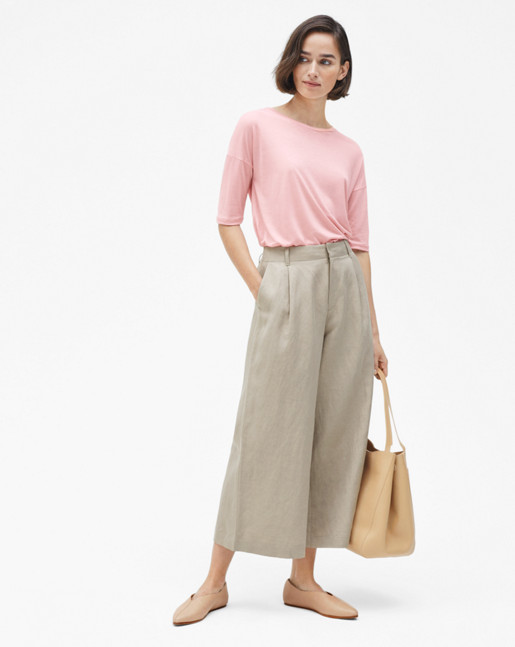 Max Cropped Wide Trousers Hemp