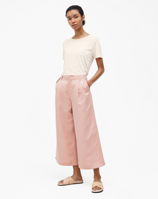 Max Cropped Wide Trousers Petal