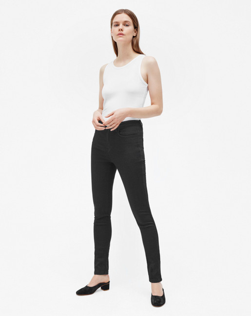 Lola Super Stretch Jeans Dark Grey