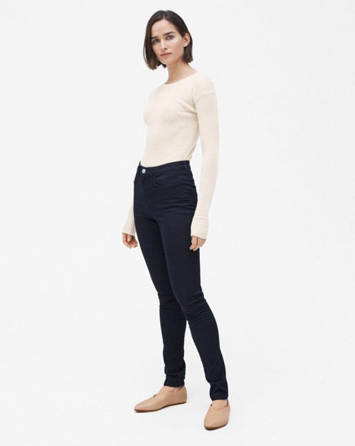 Lola Super Stretch Jeans Mid Dark