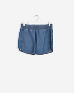 Summer Denim Shorts Mid Blue Wash