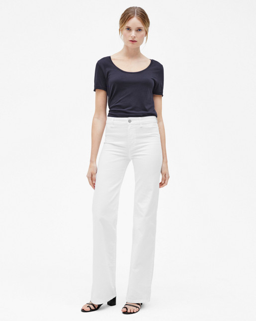 Amy Structured Denim Off White