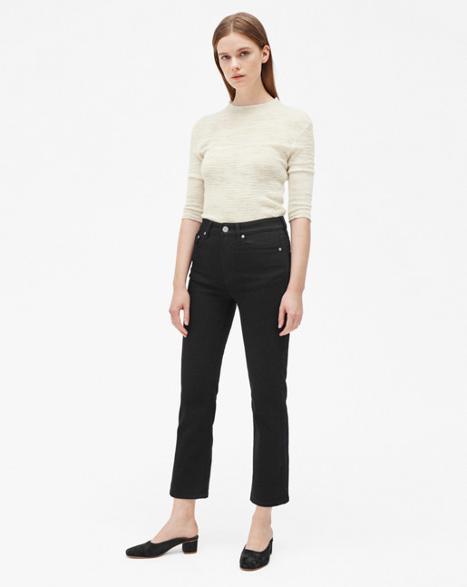 Stella Cropped Black Denim