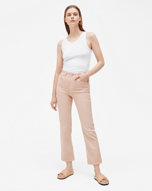 Stella Cropped Coloured Denim Petal