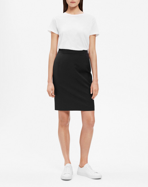 Cool Wool Pencil Skirt Black