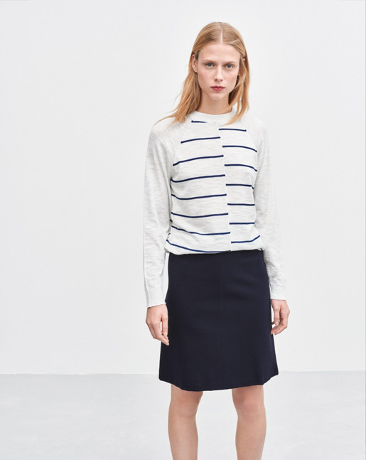 Clean Jersey Skirt Navy
