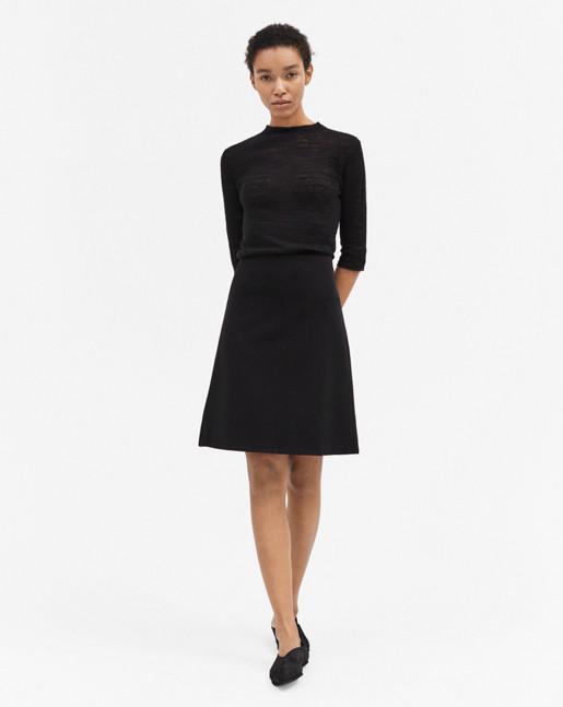Clean Jersey Skirt Black