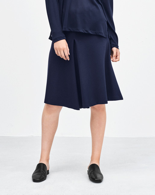 Jersey Swing Skirt Bright Navy