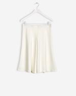 Jersey Swing Skirt Off White