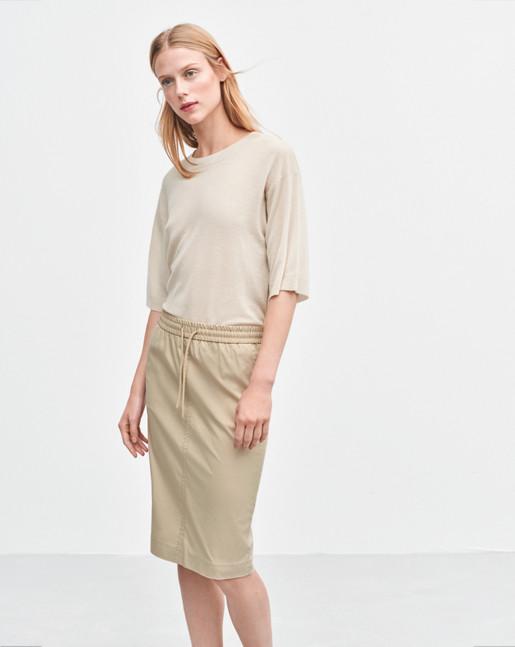 Ria Drawstring Skirt Sand
