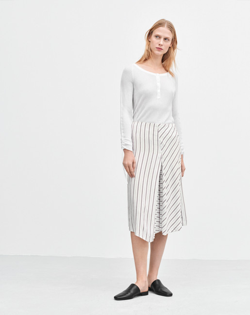 Irregular Striped Skirt