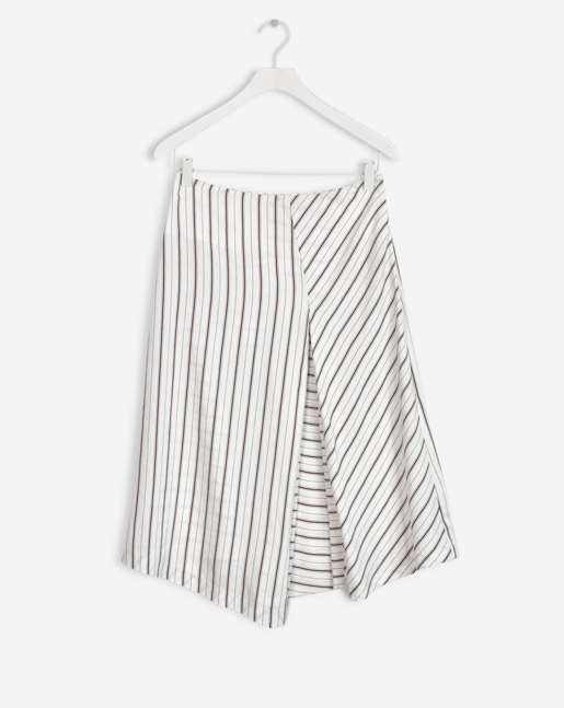 Irregular Striped Skirt