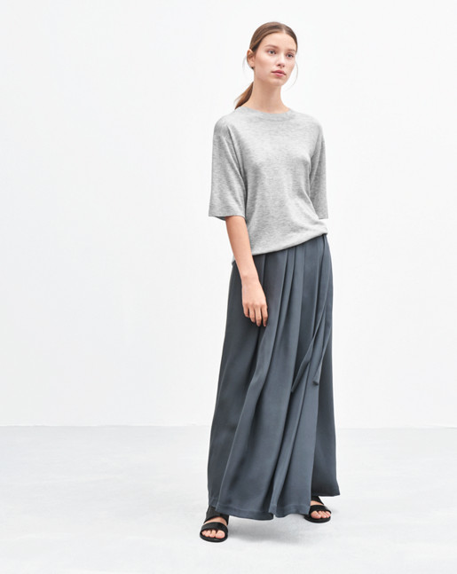 Multi Pleat Wrap Skirt Rock