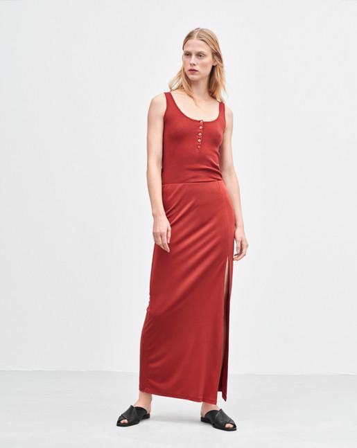 Flowy Maxi Skirt Spice