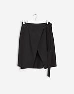 Lan Wrap Skirt Black