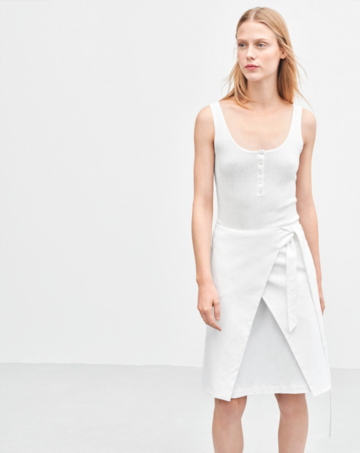 Lan Wrap Skirt White